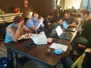 wekelijkse vergadering, september 2014 bij zelfies