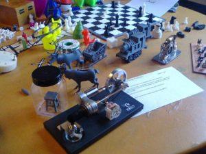 tentoonstelling van 3D printjes en sterling motors