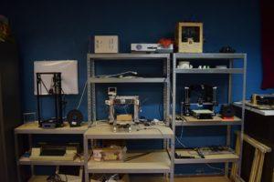 3D printer hoek (ondertussen alweer veranderd (of liever verbeterd))