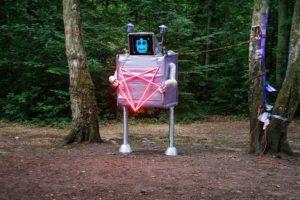 Onze robot 'Buster' overdag...