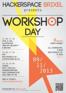 De affiche voor de eerste workshopday
